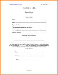 Auto Sales Reciept Template For Car Bill Of Sale With Car Sales Receipt Template Free
