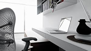 wall mounted office desk. Simple-home-office-design-ideas-wall-mounted-laptop- Wall Mounted Office Desk