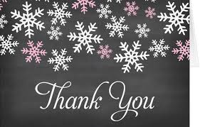 snowflake thank you cards 34 printable thank you cards