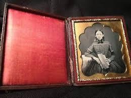 1840s MUSICAL Dag *Miss Seth Fields & Her CONCERTINA* Original Seals  PRISTINE   #1622251109