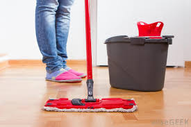 make sure all water is mopped up and floor is completely dried before repair can be done