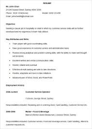 Hospitality Resume Templates Free - Resume Sample