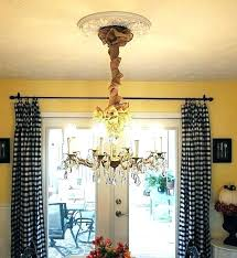 burlap chandelier cord cover pottery barn clever chain superb 6