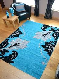 turquoise swirls area rug modern contemporary abstract gray black