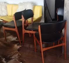 4 erik buch od 49 mid century modern teak chairs reupholstered