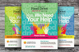 Food Drive Flyer Samples Food Drive Flyer Templates By Kinzi24 On Creative Market Posters 16