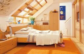 Orange Bedroom Decor Decorating Attic Bedroom