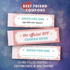 Diy Coupon Book Best Friends Gifts Diy Coupon Book Single Girl Friend Bff Etsy