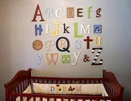 wooden alphabet letters set painted