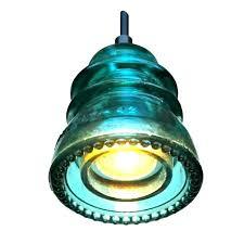 glass insulator pendant light insulator light glass insulator light kit insulator light pendant blue green glass