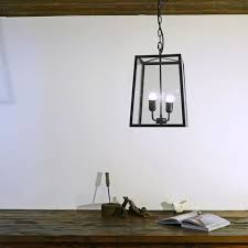 pendant lantern lighting. Dark Brass - Glass Lantern Pendant Light Lighting
