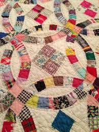 235 best Double Wedding Ring/QUILTS images on Pinterest | Rings ... & Antique Vintage Handmade Quilt 80.5