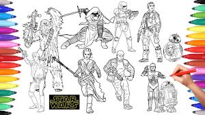 Star Wars Coloring Pages How To Color Every Star Wars Character