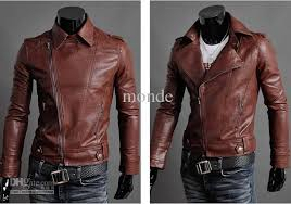 hot new fashion oblique zipper men s jacket slim jacket pu leather motorcycle jacket coat waterproof jacket
