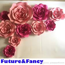 Paper Flower Photo Booth Backdrop 10pcs Giant Paper Flowers For Wedding Backdrops Decorations Kids Room Deco Showcase Windows Display Deco Mix Pink And Rose Color