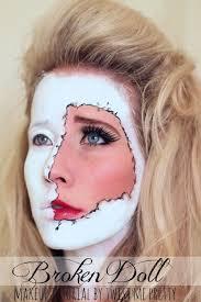 broken doll makeup tutorial for beginners