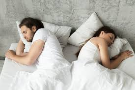 Image result for On different sides of the bedcouple sleep