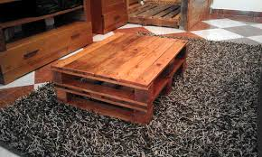 Rustic Coffee Table Made Out Pallets Reclaimed Pallet