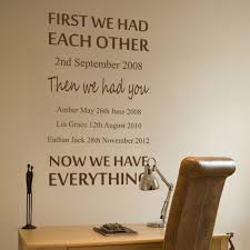 first we had each other personalised wall art sticker by nutmegwallstickers on etsy https  on personalised wall art stickers quotes with wall sticker first we had each other decals wall tattoo wall