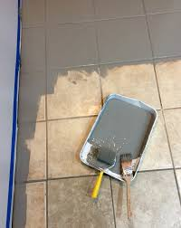 your ceramic tile you do not have to tear it out just paint
