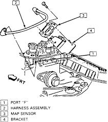 3 map sensor mounting 4 3l engine except 1996