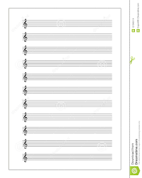 Treble Clef Music Sheet A4 Music Sheet With Note Stave With Treble Clef On White Stock