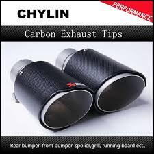 1Pcs <b>Carbon Fiber</b> Coated Stainless <b>Steel Universal</b> Car Exhaust ...