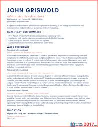 Example Of Administrative Assistant Resume Example Administrative
