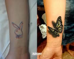 фото татуировки бабочка в стиле 3d татуировки на запястье