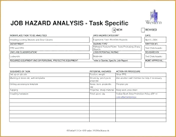 Job Site Analysis Template Best Excel Risk Management Template Assessment Matrix Project Analysis
