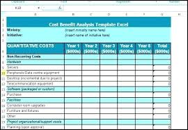 Cost Analysis Example Project Cost Analysis Template Cost Benefit Analysis Excel Template