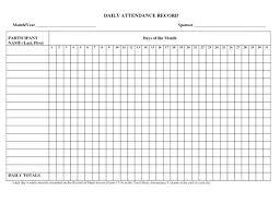 Employees Attendance Sheet Template Employee Attendance Roster Template Benefits Of Daily Sheet