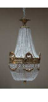 french basket style chandelier brass ceiling light