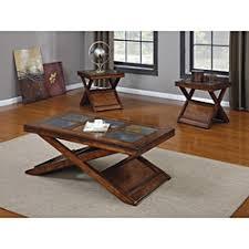 3 piece table set. Dark Oak Finish 3-piece Coffee/ Table Set 3 Piece
