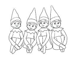 Elf Coloring Pages Free Attractive Design Cute