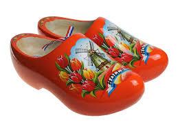 orange tulip clogs