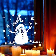 Fensterbild Schneemann Bäume Fensterdeko Winterlandschaft Sterne Schneeflocken Selbstklebend Für Kinder M2257