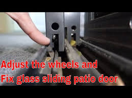 how to fix glass sliding glass patio