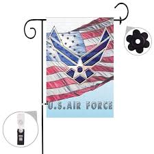 bonsai tree military burlap garden flag sets weather resistant and double stitched double sided us air force flags with a rubber stopper stop and a