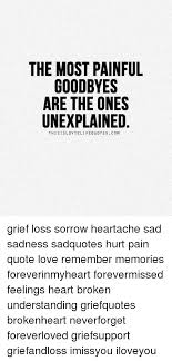 The MOST PAINFUL GOODBYES ARE THE ONES UNEXPLAINED THIS ISLOVTE LIFE Fascinating Pain And Life Quotes