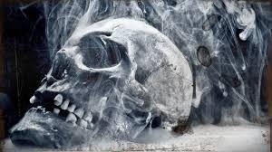 skull smoke 3d hd wallpaper wallpaper