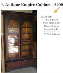 antique tall glass door empire bookcase