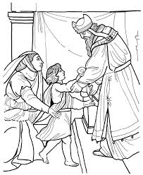 Small Picture Hannah dedicates Samuel to the temple Bible coloring page Bible