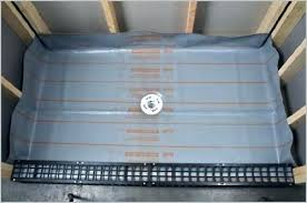 roll on shower pan liner shower pan liner drain installation tile a purchase kit home kitchen roll on shower pan liner
