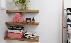 d i y bathroom wooden shelves bunnings warehouse nz floating