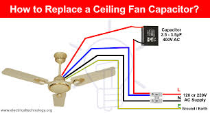 to replace a capacitor in a ceiling fan