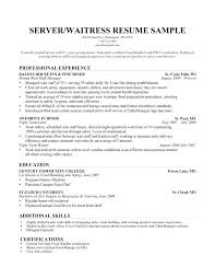 Sample Resumes For Servers Bunch Ideas Of Food Handler Certificate