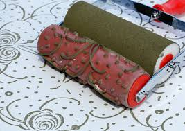 Pattern Paint Roller Gorgeous Interior Surprising Pattern Paint Roller Pics Inspiration