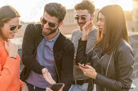 Group Of Young People Laughing Watching A Joke Or A, Stock Photo |  Crushpixel