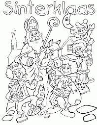 Kleurplaten Kleuren Sinterklaas